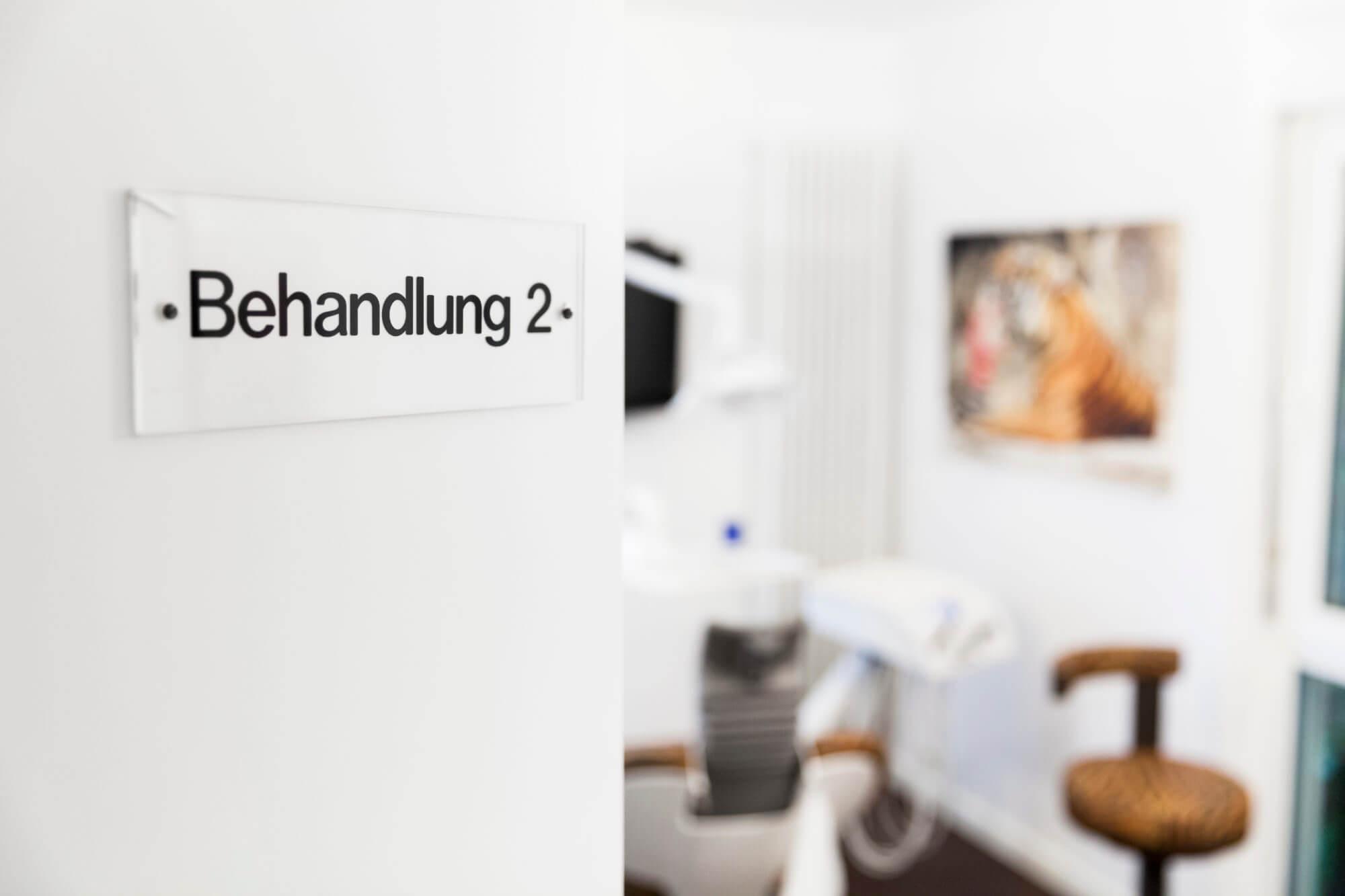 Einblick in das Behandlungszimmer 2